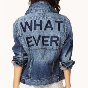 "NEW WITHOUT TAGS ""Whatever"" Denim Jacket"